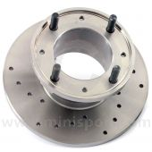 """21A1265D X-drilled 7.5"""" Mini front brake discs for Mini Cooper S and early 1275GT models with 10"""" wheels (GBD101)."""