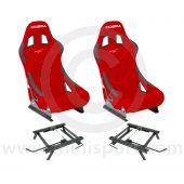 Cobra Monaco Pro Seat Package - Red