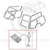 HMP841001 Mini (Woody) Traveller complete fitting kit for mounting the wood kit (14A7800)