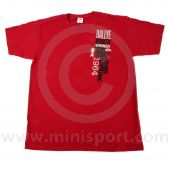 Paddy Hopkirk Monte Carlo Celebration T Shirt in Deep Red