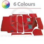 CK962 Moulded carpet set for Mini saloon models '73 onwards, available in 9 colours