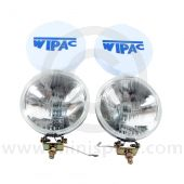 S6007 Mini Classic 5 1/2  Chrome Drive Lamps with covers