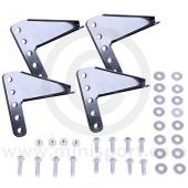 Powder coated black extension seat brackets for Classic Mini