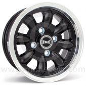 "5.5"" x 12"" black/polished rim Ultralite alloy wheel and Yokohama A539 tyre package"