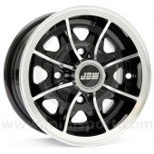 5 x 12 Dunlop D1 Alloy Wheel - Black with polished rim