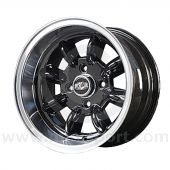 7 x 13 Superlight Wheel - Black/Polished Rim