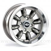 7 x 13 Superlight Wheel - Gunmetal/Polished Rim