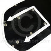 Winter Grille Cover Mk2on  - 3 open pockets type