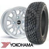 "WTP6X13KIT1 6"" x 13"" silver Ultralite alloy wheel and Yokohama A539 tyre package"