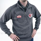 Zip neck sweatshirt embroidered with the Mini Sport Cup & HRCR logos