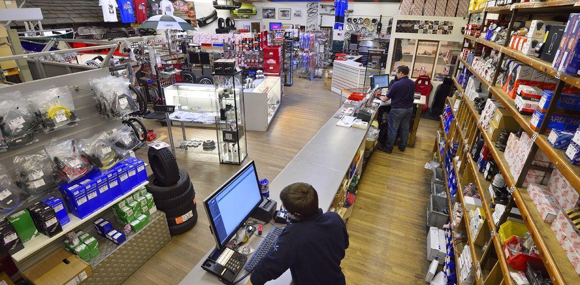 Mini Sport showroom and sales team